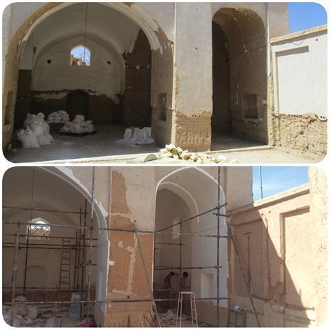 مسجد حاجی قاسمی شهرستان مهریز مرمت می گردد