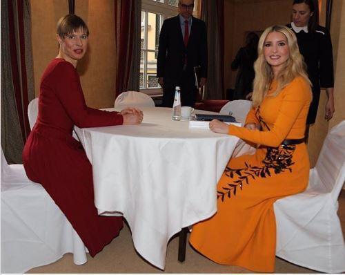 لباس نارنجی ایوانکا ترامپ در مونیخ سوژه شد