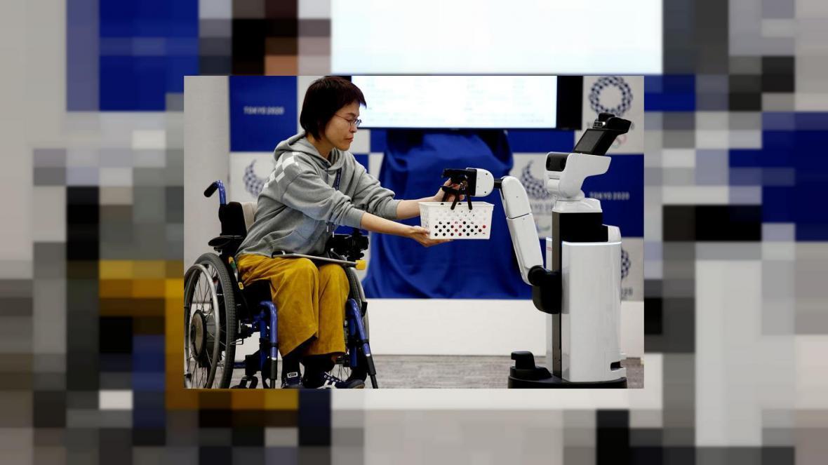 روباتی که به تماشاگران المپیک توکیو کمک می کند