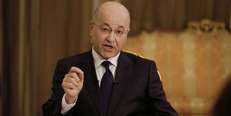 تاکید رئیس جمهور و سیاسیون عراق بر ضرورت مقابله با نفوذی های اعتراضات