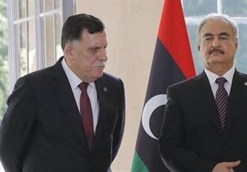 السراج با انتقاد از امارات: بار دیگر با حفتر پای میز مذاکره نمی نشینم