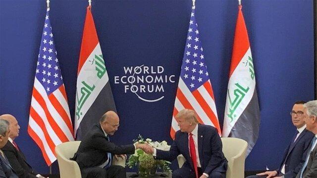 کاخ سفید: ترامپ و صالح برای بقای نیروهای آمریکایی در عراق محرمانه توافق کردند