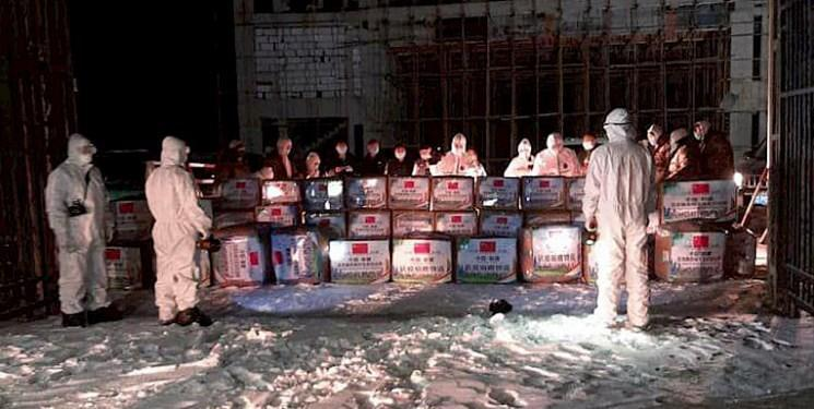 تحویل یاری های بشردوستانه چین به قرقیزستان