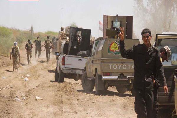حشد شعبی مواضع داعش در غرب کرکوک را در هم کوبید