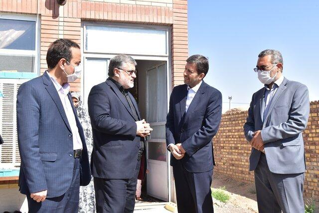 بازدید معاون وزیر کشور از فرایند پروژه مسکن روستایی در خانکوک فردوس