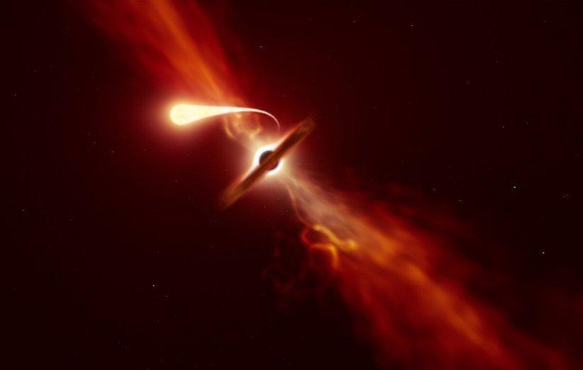 اخترشناسان بلعیده شدن یک ستاره توسط یک سیاهچاله را رصد کردند