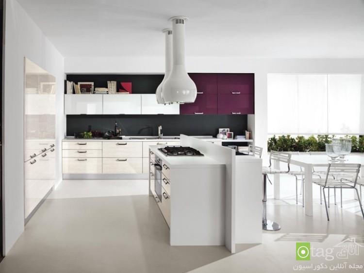 نمونه طرحهای زیبا از مدل کابینت های گلاس آشپزخانه مدرن