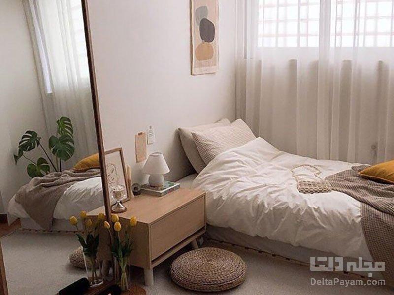چند ترفند برای اتاق خواب کوچک و نقلی