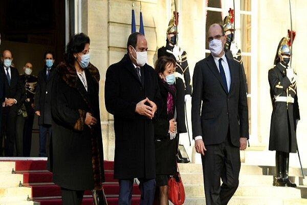 تجمع فرانسوی ها در اعتراض به حضور عبدالفتاح السیسی در پاریس