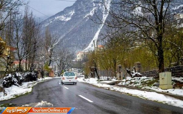 جاده های 11 استان برفی و بارانی است