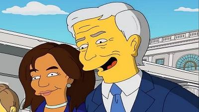 پیش بینی تحلیف جو بایدن و کاملا هریس در سیمپسون ها
