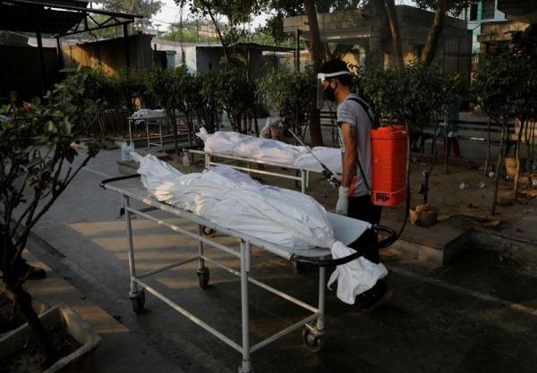 انداختن اجساد قربانیان کرونا در رودخانه گنگ هند